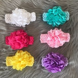 Other - Brand New 6 Baby Toddler Girl Headbands 0-4 Years